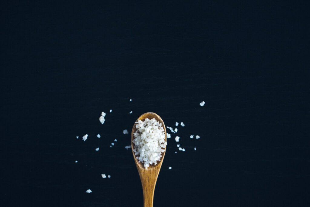 Cuchara con sal